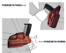 Fondina Vega cuoio biuso N113 Glock 17 19 22 23 serie N1