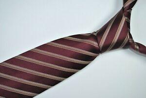 GIORGIO ARMANI Tie MADE IN ITALY 100% Silk Burgundy Color L58 W3.5