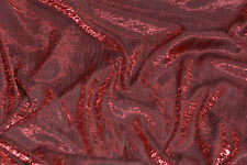 "Iridescent Shimmer Crushed Satin Dress wedding tablecloth Fabric burgundy"" 5 yrd"