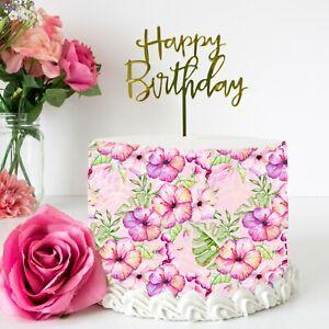 Floral Edible Icing Cake Wrap