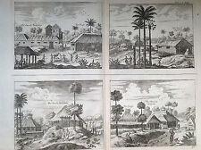 CHIESA di Poelepolay Tambamme Mulipatto, incisione su rame travel India 1672