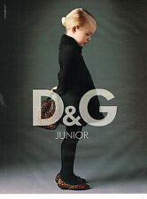 PUBLICITE ADVERTISING 094  2009  DOLCE & GABBANA JUNIOR mode enfant