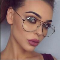 Vintage Overiszed Transparent Glasses Women Optical Glasses Frame Accessories