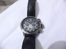 Rare Nautica Womens Quartz chrongraph Date battrey black croco Watch A26523L