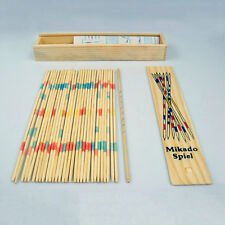 Baby Educational Wooden Traditional Mikado Spiel Pick Up Sticks With Box Game XP