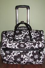 """Vera Bradley NIGHT & DAY Carry-On 17"""" TRAVELING TOTE Suitcase Rolling LUGGAGE"""