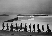 WWII photo Wehrmacht patrol on the coast of Norway 207