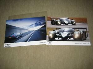 2X Bentley Presse Fotos press photo picture