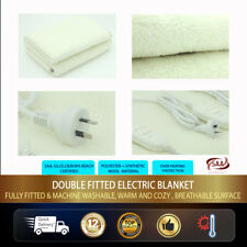 Single Electric Heating Blanket - Synthetic Wool - 2 Heat Settings -SAA Approved