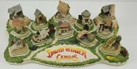 Signed David Winter Cottages Complete Cameo Collection COA Bright Diorama