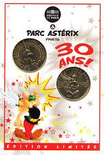 60 PLAILLY Parc Astérix, Encart 30 ans, 2 médailles, 2019, Monnaie de Paris