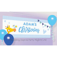 Amscan 9901956 120 X 45 Cm on Your Christening Day Blue Personalised Banner
