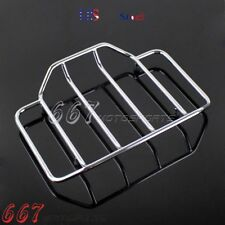 Chrome Hard Tour Pack Pak Top Luggage Rack Rail For Harley Road Electra Glide