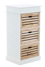 Meuble ELENA tiroirs bois blanc salle de bain chambre armoire rangement neuf