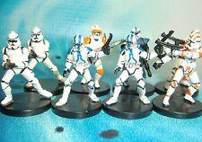Star Wars Miniatures Lot  Clone Trooper ARC Trooper Clone Commander !!  s97