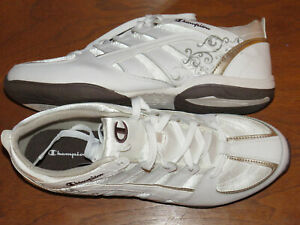 Champion white & bronze sneakers, Women's size 13