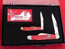 Queen Steel USA mint in box Set two red Kentucky Derby-Bicentennial 1974 knives