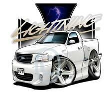 Cartoontees Replica F-150 Lightning Pickup Truck Short Sleeve Tshirts 7100 auto