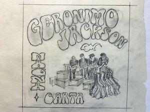 ABC LOST TV Show Season 2 Dharma Original Artwork of Geronimo Jackson in Pencil