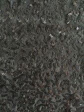 Black Soft Touch Sequins Stretch Fabric Q1221 BK