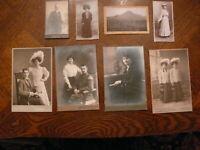 8 Fotografien um 1900 E.Steiner Breslau, J.Popelka Königshütte, J.Laskonski Pree