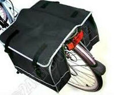 Large Double Bicycle Pannier Bag Water Resistant Rear Bike Cycle Rack Carrier Grey 65789gre