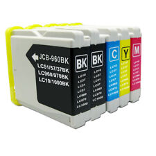 5 PK of Compatible Printer Ink Cartridges for Brother DCP-135C LC970
