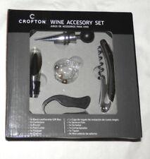 New listing New Crofton Wine Accessory Set 9 Piece Set Including Black Storage Case