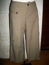 Pantalon court pantacourt coton chevrons marron IKKS 40FR W30 16VH34