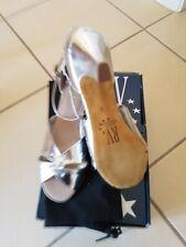 Ladies Silver Dance Shoes Ballroom Jive Ceroc - Roch Valley Size 6 EU39