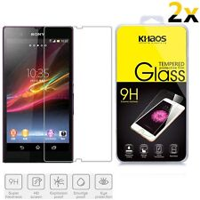 2x KS Premium Tempered Glass Screen Protector For Sony Xperia Z L36h C6602/c6603