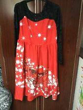 Christmas Dress Xl 16-18 Red