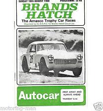 TROFEO amasco Brands Hatch 1968 FRANK WILLIAMS TONY TRIMMER TONY Dodecaedro programma