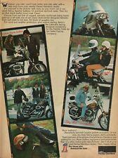 1975 Harley-Davidson Apache Leathers / Liberator Fairing - Vintage Motorcycle Ad