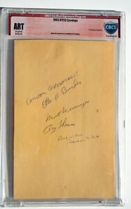 CBCS 1965 New York Comicon Convention Signed Autograph Set * Marvelmania * MMMS