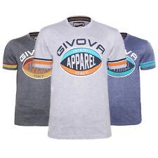 T-shirt Uomo GIVOVA 100% Cotone Maglietta Casual Maglia Mezza Manica Corta