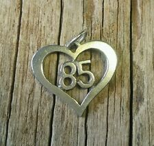Jim Morris sterling silver Class of '85  or jersey  # 85 heart charm