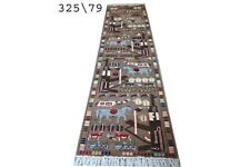 hand made afghan war rugs, afghan war rug runner size 325 cm x 79 cm
