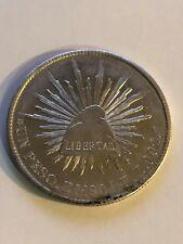 AU 1901 Silver Mexico Un Peso Zs-FZ Second Republic High Grade Nice Luster