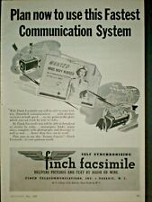 1945 Navy Nurses Wanted Wwii vintage Finch Facsimile Trade print ad