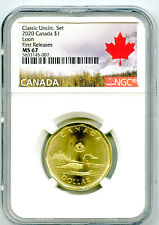 2020 CANADA $1 CLASSIC LOON NGC MS67 FIRST RELEASES UNCIRCULATED LOONIE POP=8