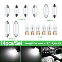 Car Interior LED Lights Kit Trunk Cargo Bulb 194 168 501 C10W Festoon 31/36mm