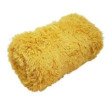SUPERSOFT SHAGGY OCHRE GOLD YELLOW FLEECE FAUX FUR THROW BLANKET