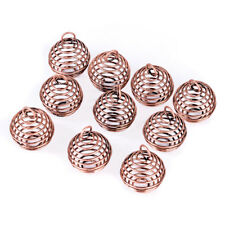 10Pcs Tone Spring Spiral Bead Cages Pendants Jewelry Diy Making Findings