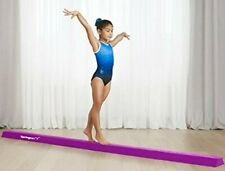 10ft Extra Firm Folding Balance Beam for Home Gymnastic Training Suede Purple