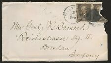 1880's Baltimore Md Cover to Mrs General John G Barnard in Dresden Germany