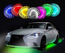 Zento Deals 7 Color LED Undercar Glow System Neon Light Kit Under Cabinet Lights
