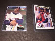 Cleveland Indians Trading Cards Two Sandy Alomar Jr. Albert Belle Topps Stats