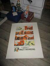Franquin&Delporte-Lithographie Gaston-Amnesty international-Années 80