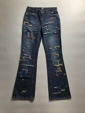 Dolce & Gabbana Womens Cotton Denim Custom Blue Flared Jeans Pants Size 26